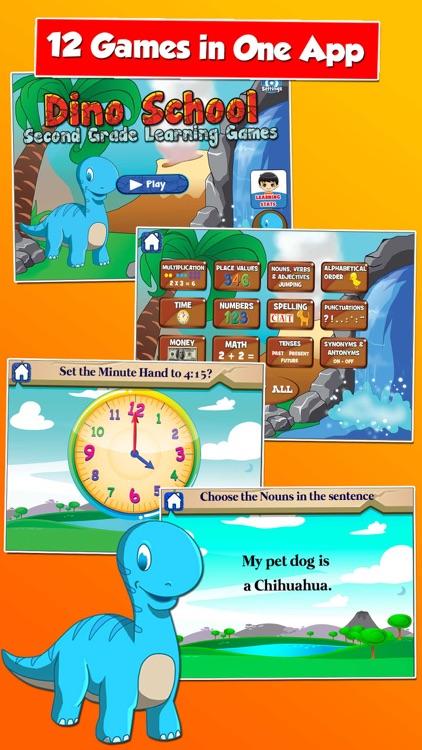 Dino Second Grade School Games