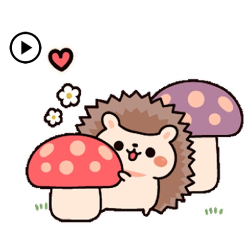 Animated Cute Chubby Hedgehog