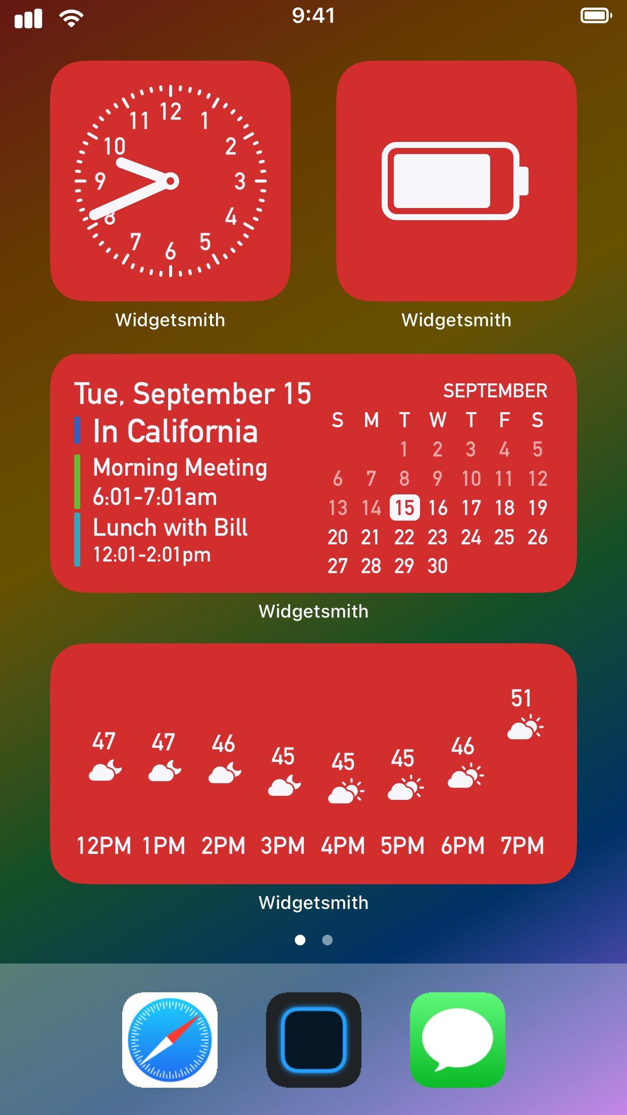 Screenshot do app Widgetsmith