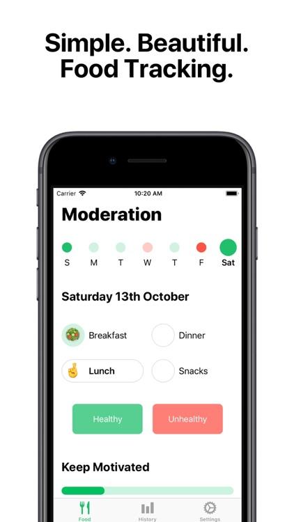 Moderation - Food Tracker