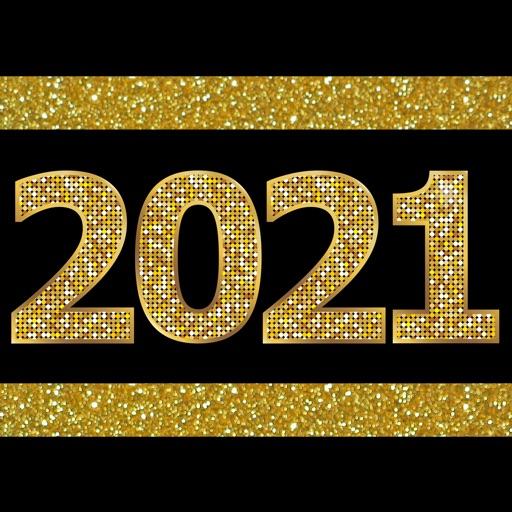 2021 Happy New Year Stickers
