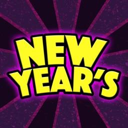 New Year's Fun Stickers