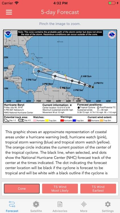 National Hurricane Center Data screenshot-1