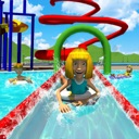 Summer Sports Water Park Slide