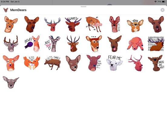 Deer Emoji Funny Stickers screenshot 3