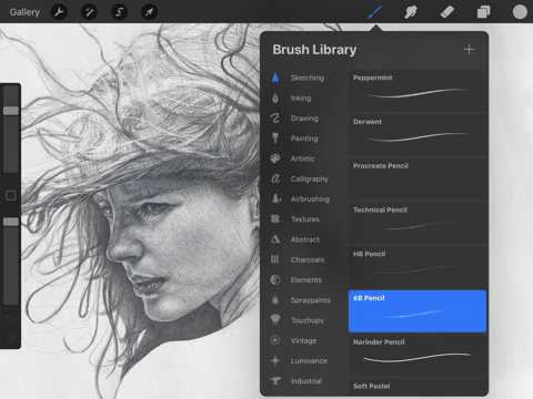 Screenshot of Procreate