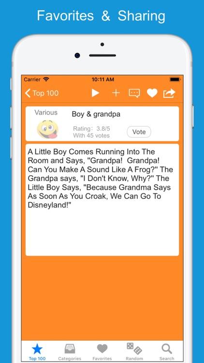 Funny Jokes, Stories & Puns screenshot-3