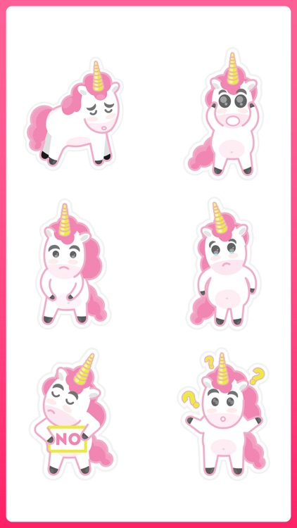 Unicorn with a Horn Stickers