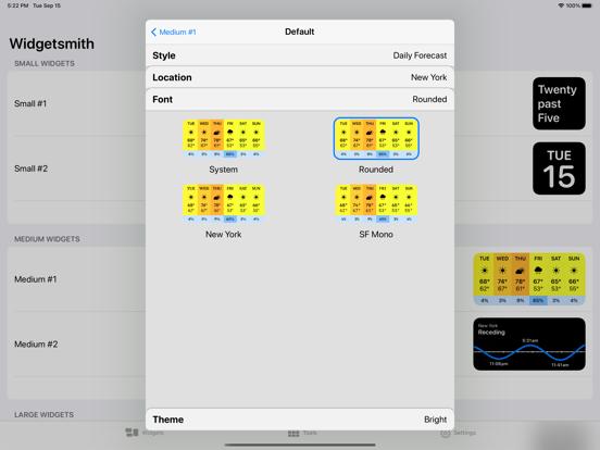Widgetsmith iPad captures décran