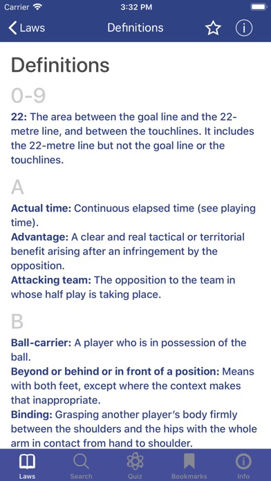 Screenshot for World Rugby Laws of Rugby in New Zealand App Store