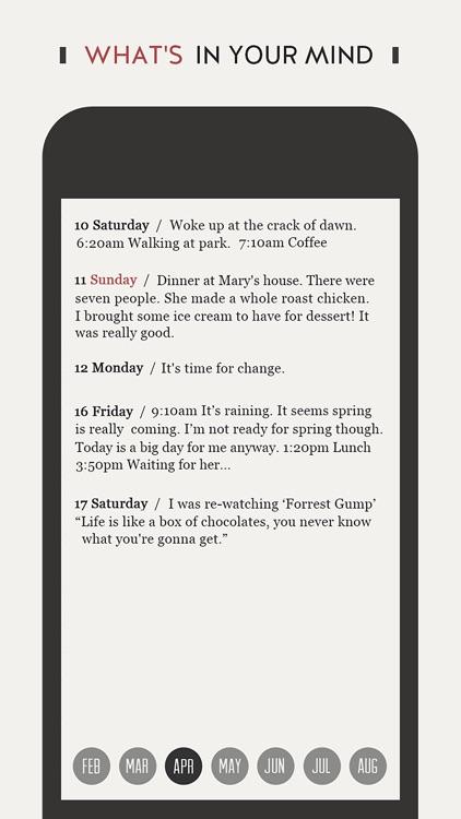 DayGram - One line a day diary screenshot-3