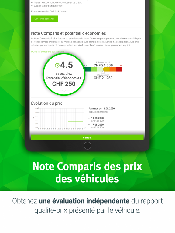 Screenshot #6 pour Espace automobile Comparis