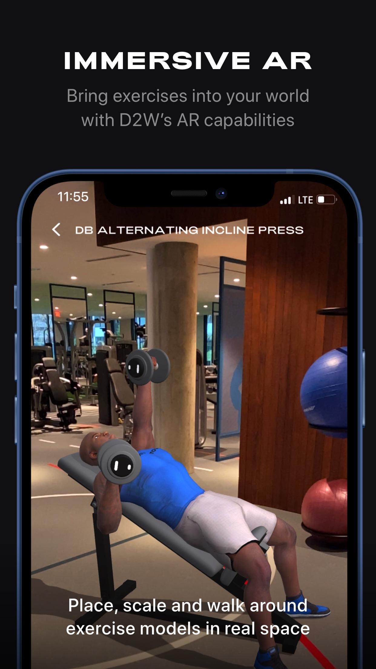 Screenshot do app D2W Fitness by DeMarcus Ware