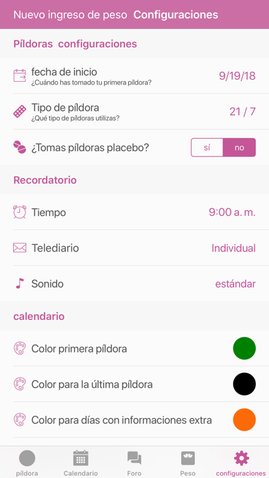 Screenshot for BC Píldora Recordatorio in Venezuela App Store