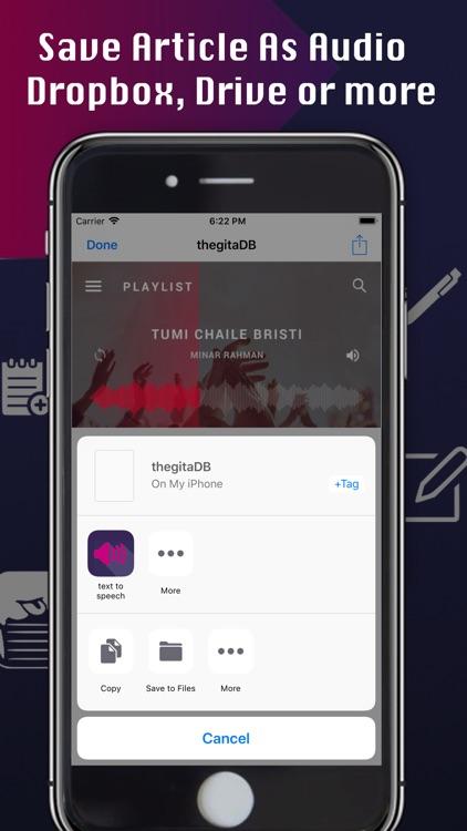 Text to Speech - Music Player screenshot-5