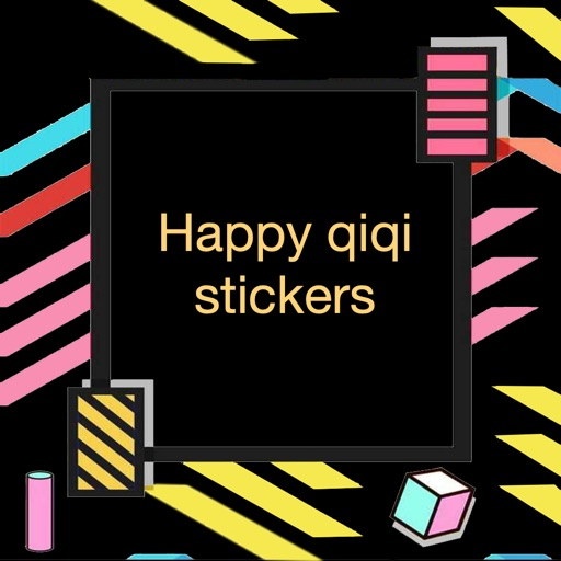 Happy qiqi stickers