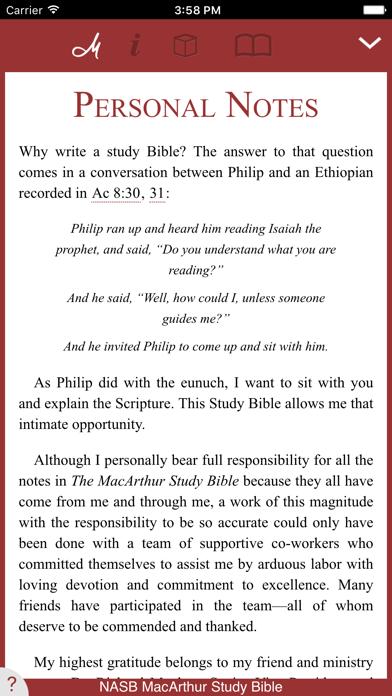 NASB MacArthur Study Bible Screenshot