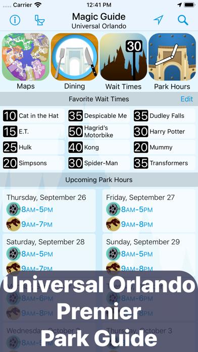 Magic Guide: Universal Orlando Screenshot