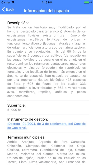 Screenshot for Red Natura 2000 Madrid in Singapore App Store