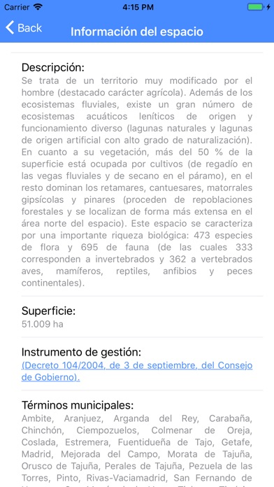 Screenshot for Red Natura 2000 Madrid in Russian Federation App Store
