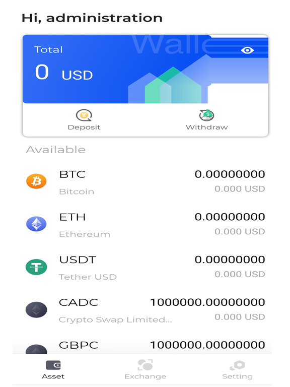 Crypto Swap Liquidity Exchange screenshot #2