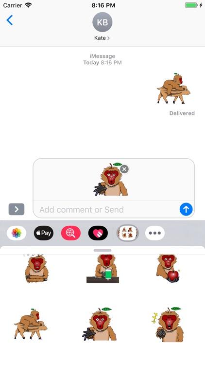 Macaque Stickers screenshot-3
