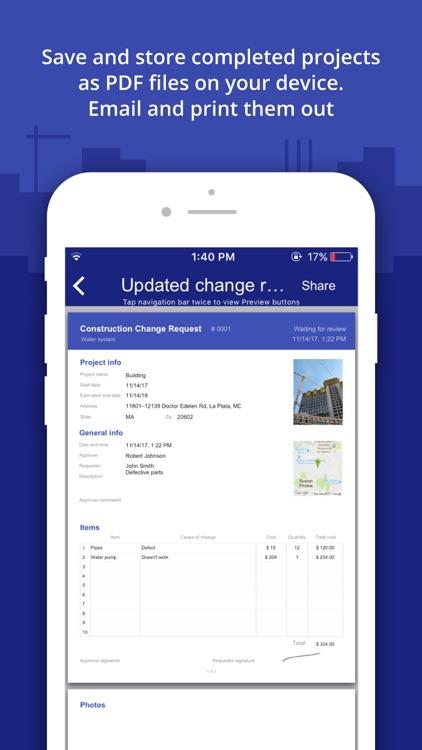 Construction Change Order App screenshot-4