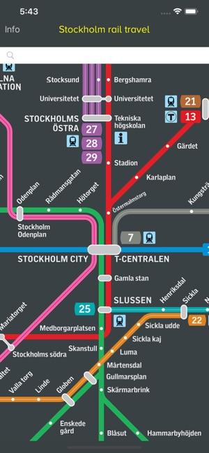 Sl Linjekartor Stockholm I App Store