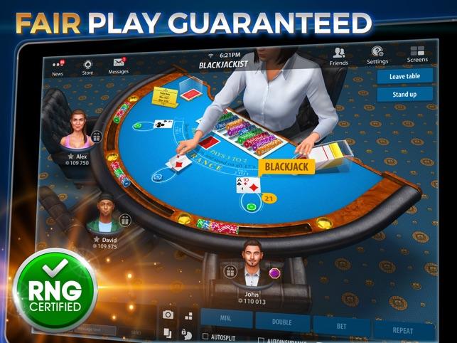 Man Plays Casino Games On Ipad