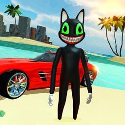 Cartoon Cat Scary Crime City