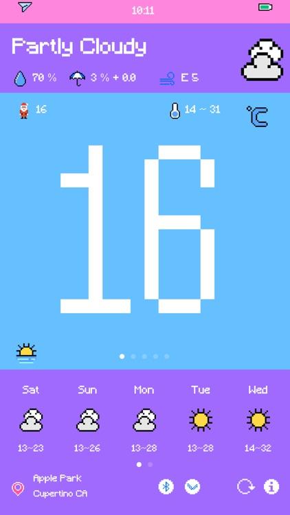 Pixel Weather - Forecast screenshot-8