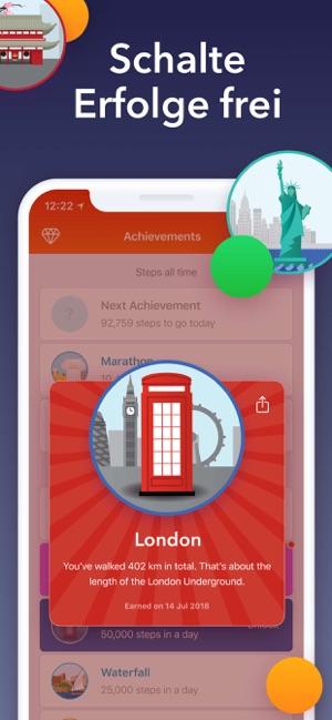 Stepz Schrittzähler Pedometer Screenshot