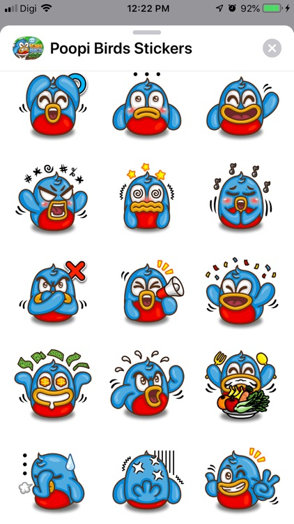 Poopi Birds Stickers