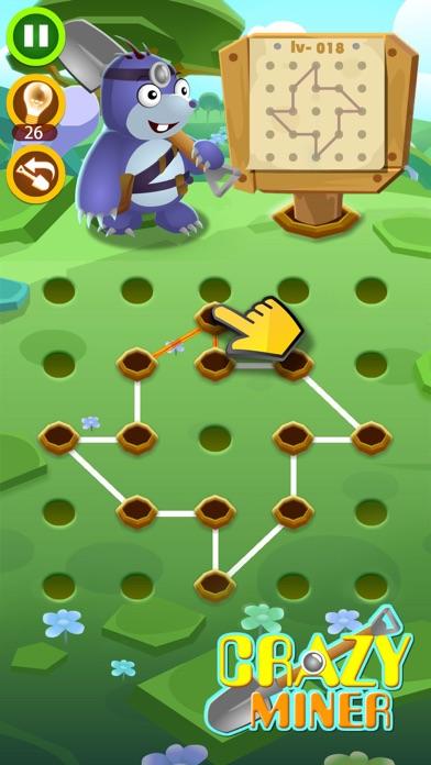 Crazy Miner - Puzzle Line Screenshot on iOS