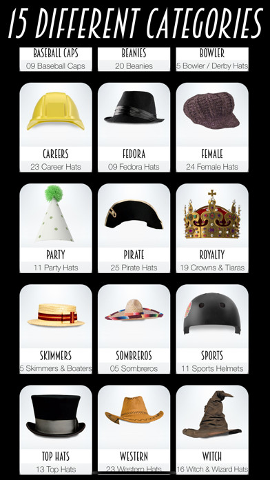Hat Booth review screenshots