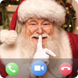 Santa Video Call, Gif and Text