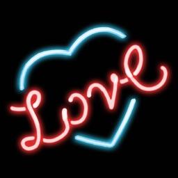 Neon Love Stickers