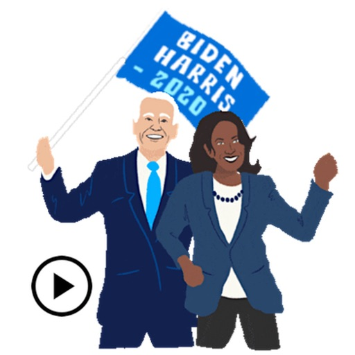 Animated Biden And Harris 2020 icon