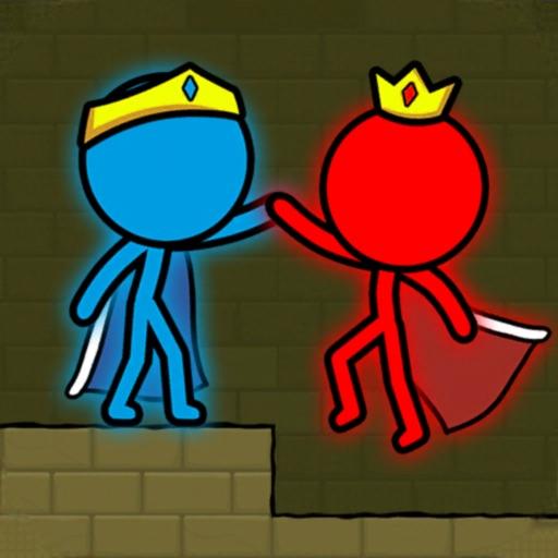 Red & Blue Stickman