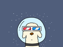 Space Dog 3D Moving