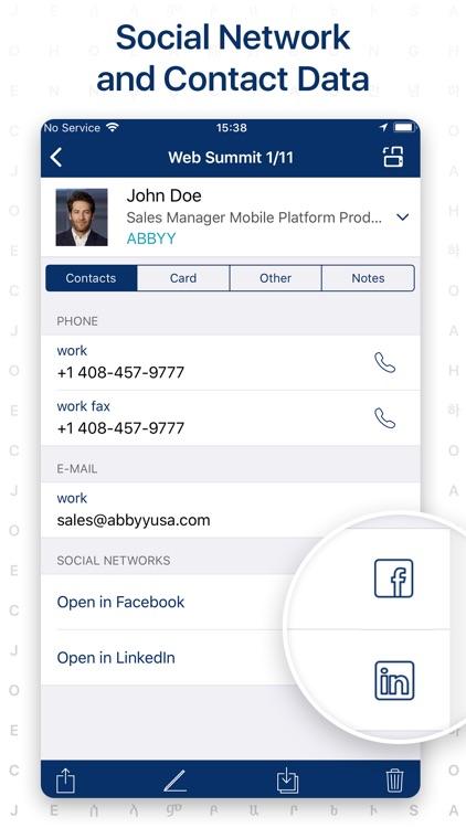 ABBYY Business Card Reader Pro screenshot-3