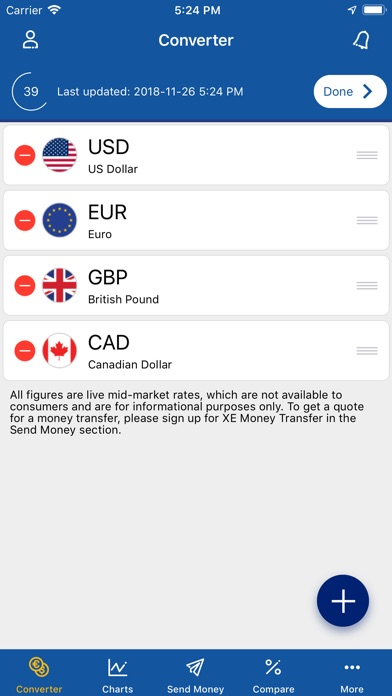 Screenshot 7 For Xe Currency Converter Pro
