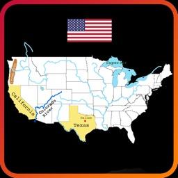 Geography of USA Study & Quiz