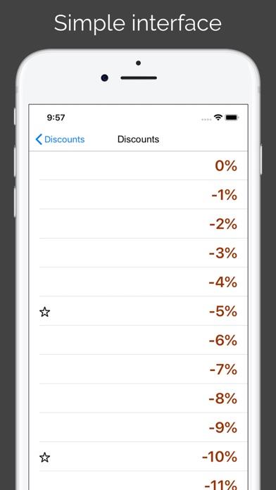 Discounts & Sales calculator Screenshot