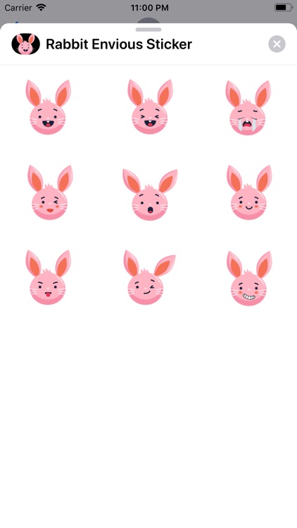 Rabbit Envious Sticker