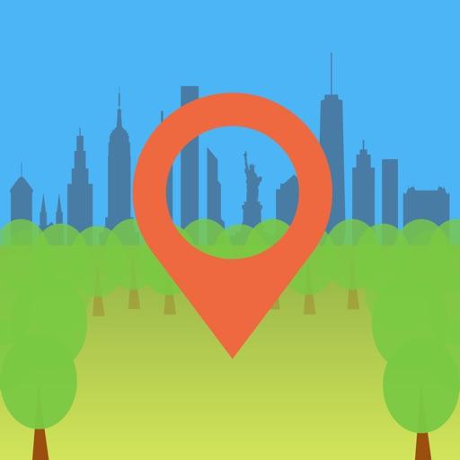 360 Central Park NYC AR Map
