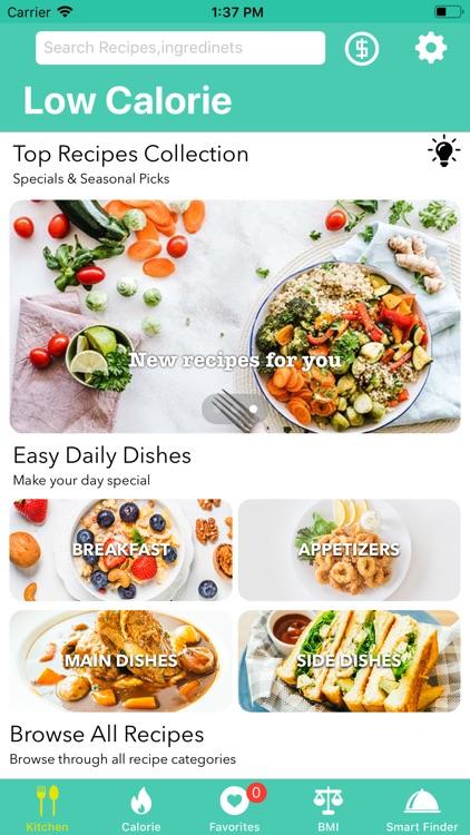 Low Calorie Recipes & Counters screenshot-0