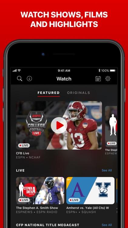 ESPN: Live Sports & Scores screenshot-5