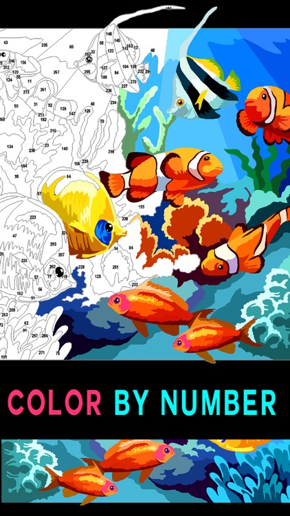 Color by Number Adult coloring by Coloring puzzle games sp ...