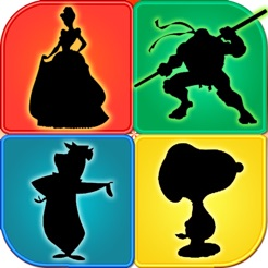 Cartoon Shapes Shadow Quiz Trivia Learn Famous Animation Movie